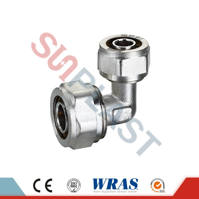 Brass Compression Elbow Fittings For PEX-AL-PEX Multilayer Pipe