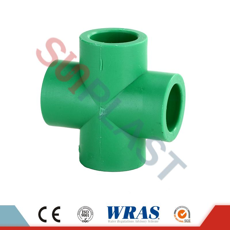 Green PPR Cross Fittings